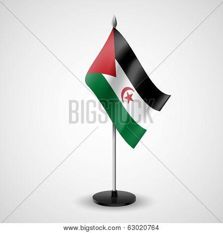 Table flag of Sahrawi Arab Democratic Republic