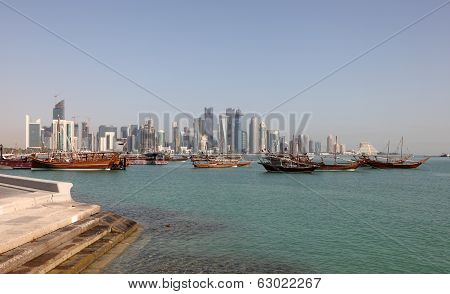 Skyline Of The New Doha Downtown