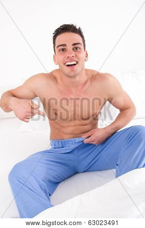 Man With Problem In Bedroom