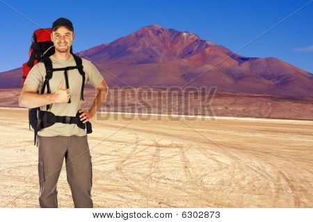Traveller In The Desert