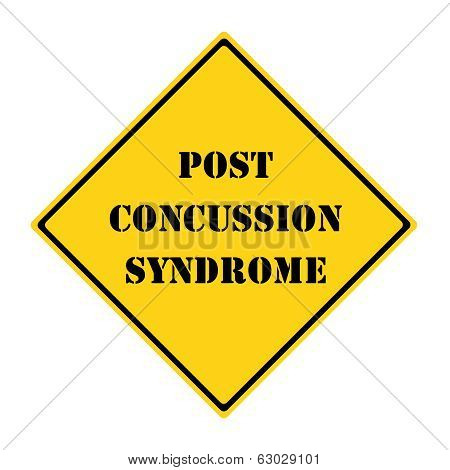 Post Concussion Syndrome Sign
