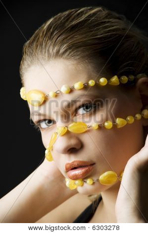 Yellow Necklace Mask