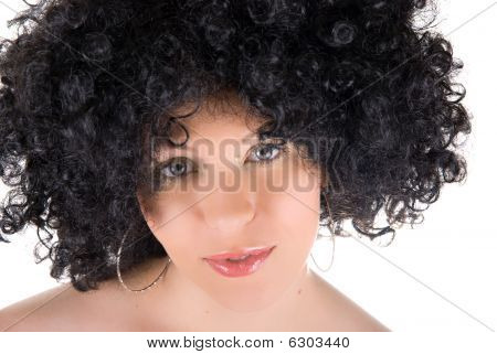 Pretty Young Frizzy Woman