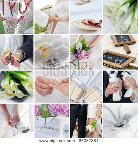 wedding collage