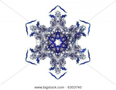 Blue ice crystal