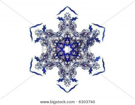 Blue ice crystal