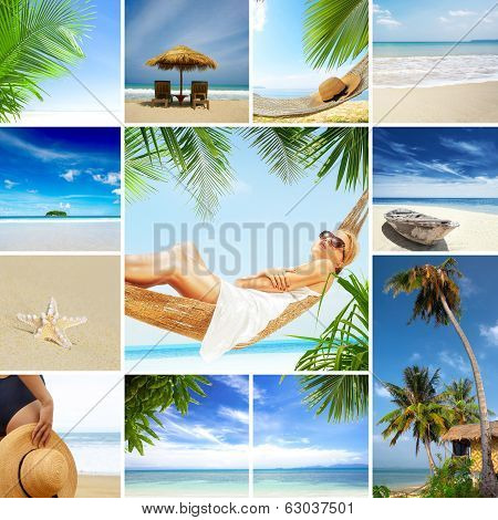tropic theme collage