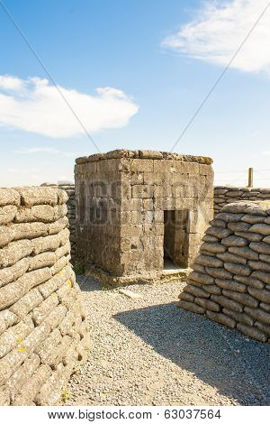 Ww1 Bunker In The Trench Of Death Belgium World War.
