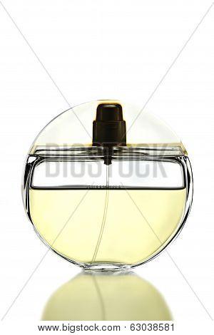 Gold Perfume Bottle Isolated.