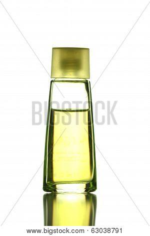Yellow Perfume Bottle Isolated.