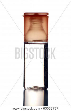 Orange Perfume Bottle Isolated.