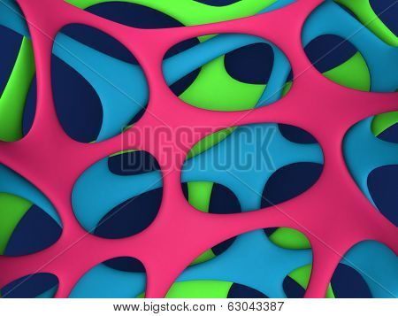 Abstract colors web background 3d illustration
