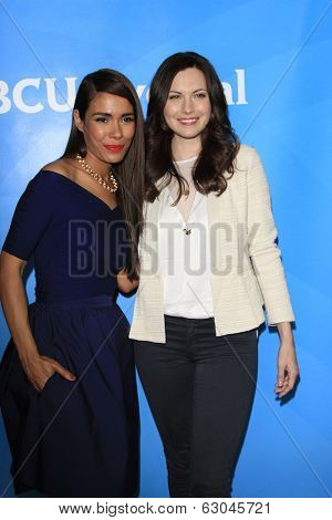PASADENA - APR 8: Daniella Alonso, Jill Flint at the NBC/Universal's 2014 Summer Press Day held at the Langham Hotel on April 8, 2014 in Pasadena, California