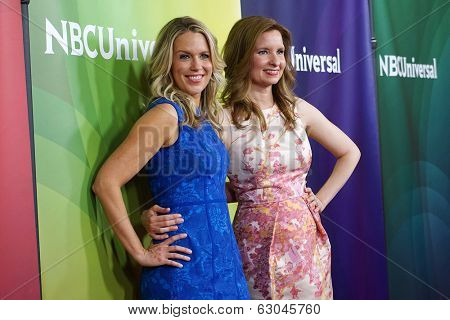 PASADENA - APR 8: Jessica St. Clair, Lennon Parham at the NBC/Universal's 2014 Summer Press Day held at the Langham Hotel on April 8, 2014 in Pasadena, California