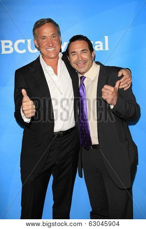 PASADENA - APR 8: Dr. Paul Nassif, Dr. Terry Dubrow at the NBC/Universal's 2014 Summer Press Day held at the Langham Hotel on April 8, 2014 in Pasadena, California
