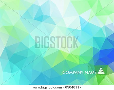 Abstract Background With Triangular Polygons