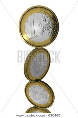 Balancing Euro Coins Isolated