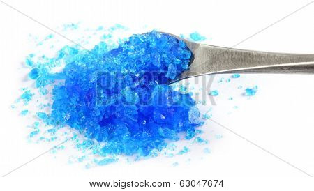 Copper Sulphate With A Steel Spatula