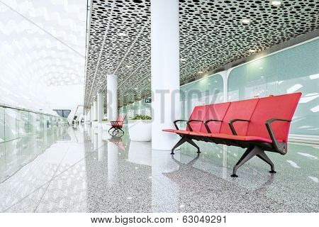 modern waiting room in the mall