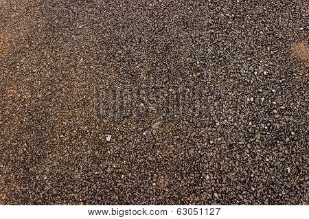 Close up of asphalt or bitumen laid road