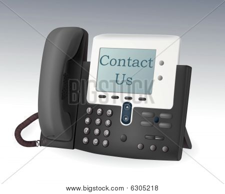 Telefone com display vector