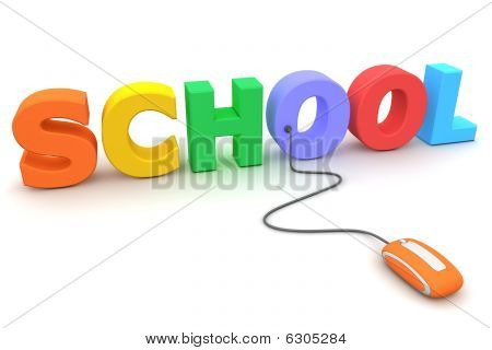 Browse The Colourful School - Orange Mouse
