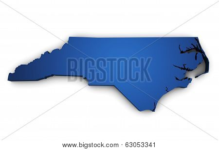 Map Of North Carolina State 3D Shape