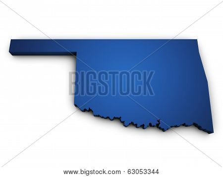 Map Of Oklahoma State 3D Shape