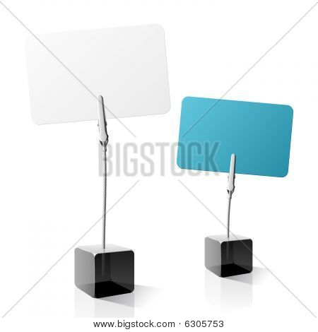 Card Holder. Vector.