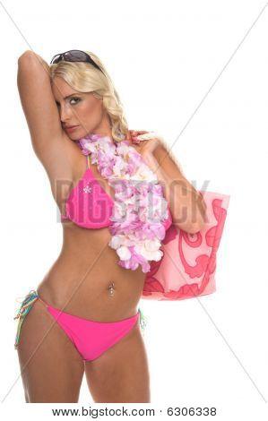Sultry Blond Bikini Girl