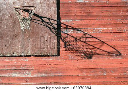 Rural Basketball Backboard And Hoop Outdoor