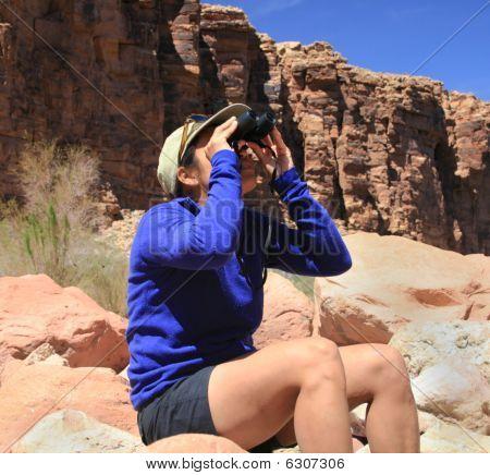 Vogelbeobachtung Frau