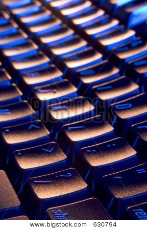 Cool, Blue And Orange Keyboard