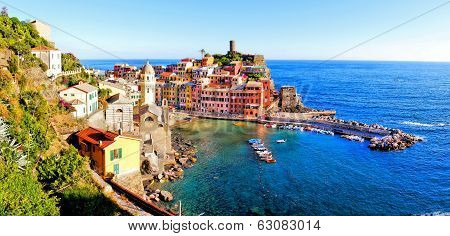 Italian coastal village panorama