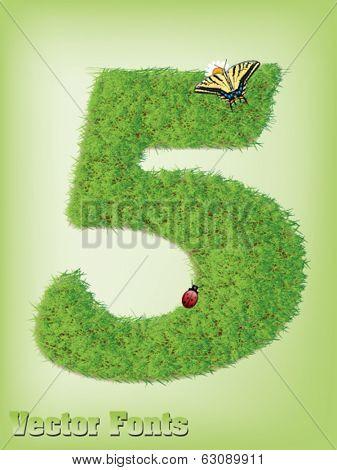Grass font number 5