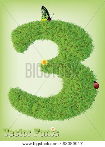 Grass font number 3