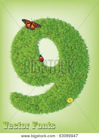 Grass font number 9