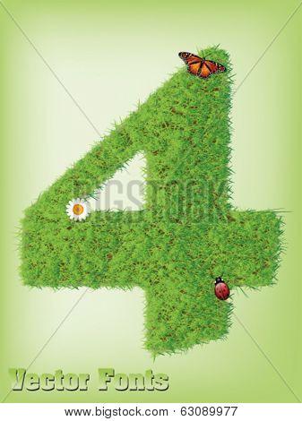 Grass font number 4