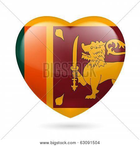 Heart icon of Sri Lanka