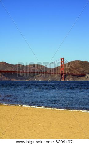 Golden Gate Bridge from the Beach