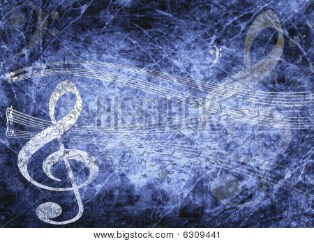 blau musikalischen Hintergrund im Grunge Stil