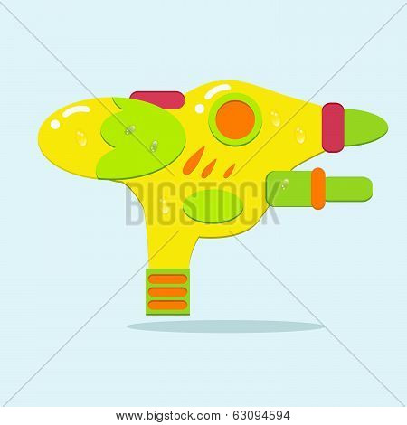 Water Spray Gun For Playing And Watering With Water Drop, Vector