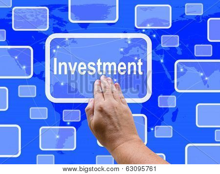 Investment Touch Screen Shows Lending Money