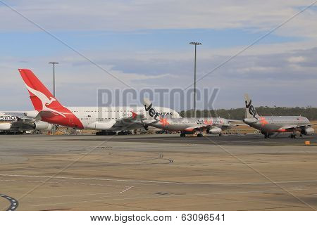Qantas and Jetstar airplanes
