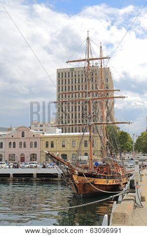 Wharf in Hobart Australia