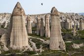 picture of hoodoo  - Typical landscape with hoodoos  - JPG