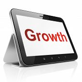 Business concept: Growth on tablet pc computer