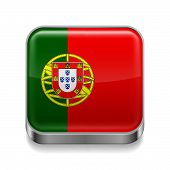 Metal  icon of Portugal