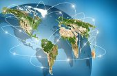 world Map. Best Internet Concept of global business from concepts series. (Elements of this image fu