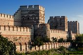 foto of constantinople  - City walls of Istanbul after partial restoration - JPG